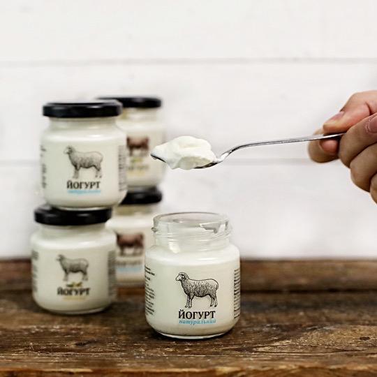 Йогурт овечий в скляній баночці, 2 шт
