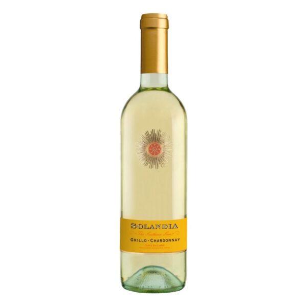 """Вино біле сухе """"Соландія"""". Два сорти винограду — Грілло, Шардоне"""